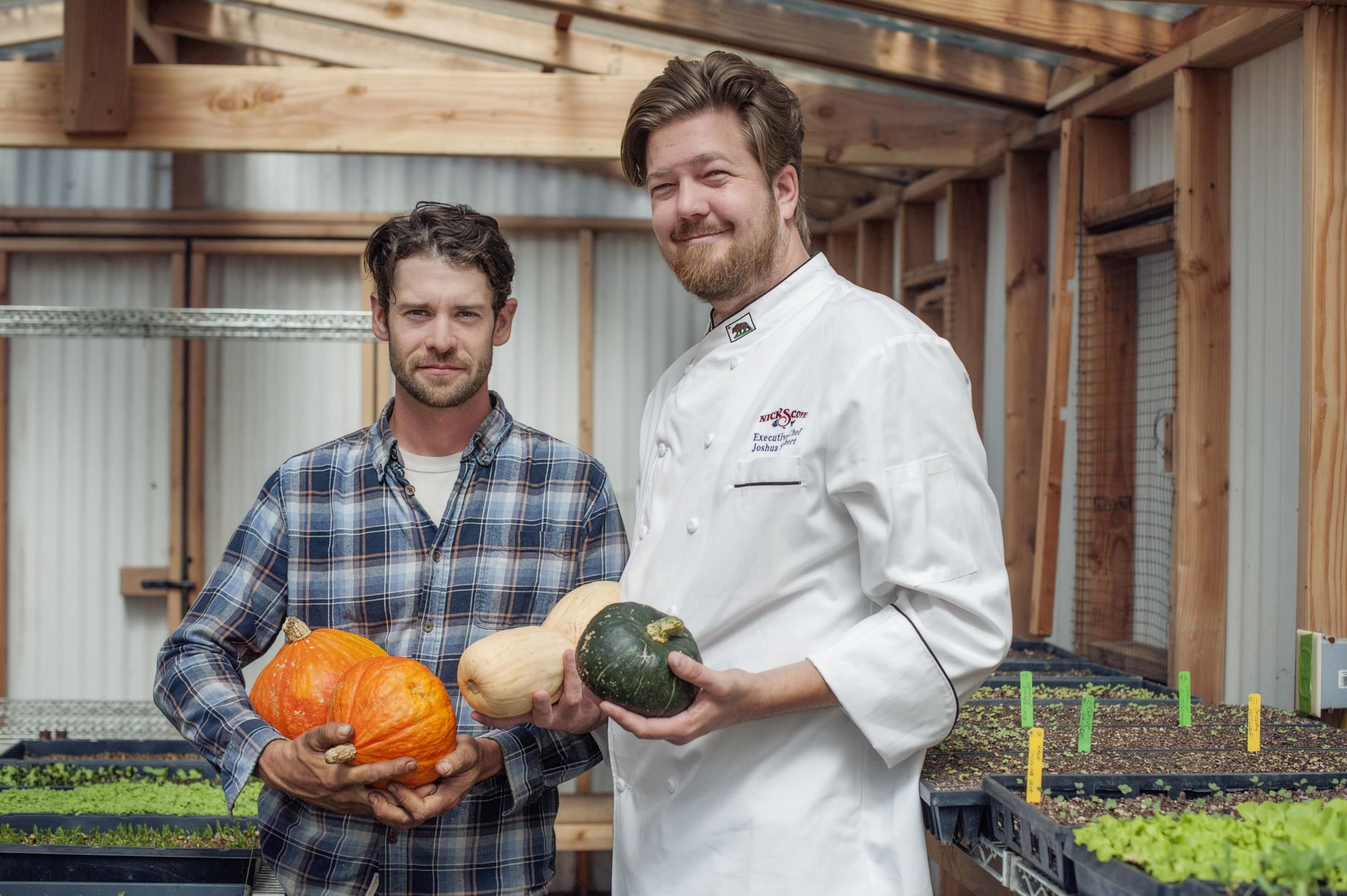Nicks Cove Chef and Farmer with fall produce credit Dawn Cooper
