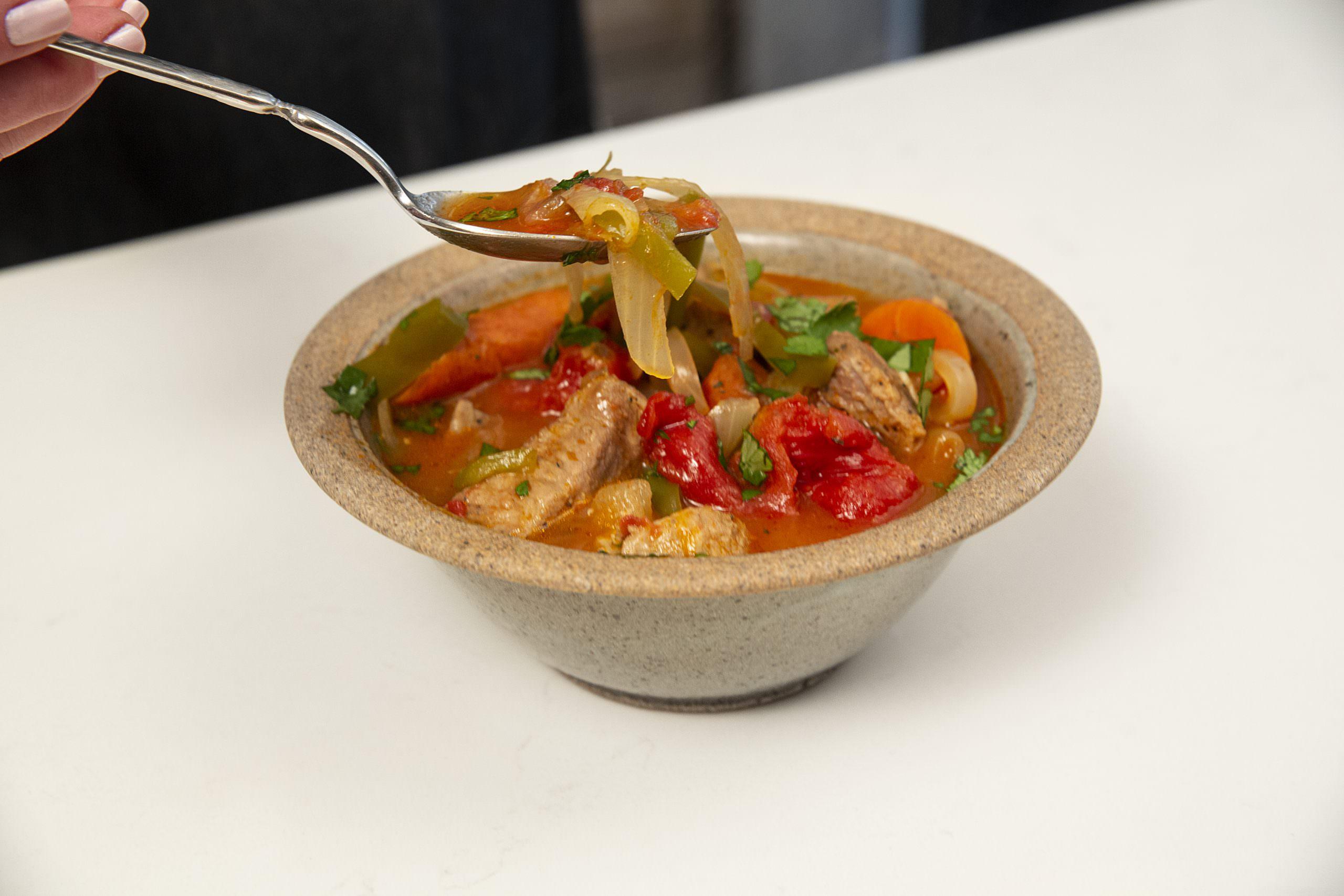 Bowl of Spicy Pork Stew