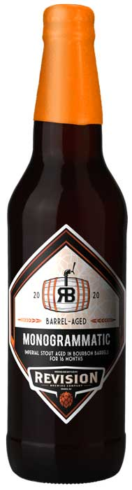 web Beer Releases REVISION Barrel Aged Monogrammatic